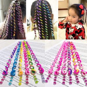 XW5M1 6 Werkzeuge der Werkzeuge Kinderzubehör Spirale geflochtene Kreis Girls lockige Haarwerkzeuge Twist geflochtene Mädchen Haarschmuck