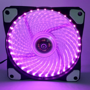 120MM الكمبيوتر PC فان القضية LED فائقة صامت 15/33 المصابيح 12V وحدة المعالجة المركزية غرفة تبريد تبريد ماستر مروحة تبريد مع مخمدات اهتزاز المطاط