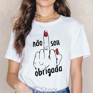Vogue Rainbow nail polish print tee shirt femme vintage t shirt women clothes 2020 summer top female harajuku aesthetic tshirt