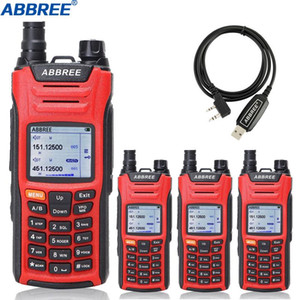 4Pcs ABBREE AR-F6 Walkie Talkie Multi-Band Multi-functional VHF UHF DTMF 999CH VOX DTMF SOS Scanning Stopwatch Ham CB Radio