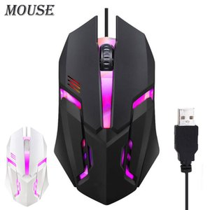 S1 USB Wired Gaming Mouse For Home Laptop Computer PC Internet Cafe Gamer LED Backlight 2000 DPI Ergonomics Silent Cable Optical Game Mice