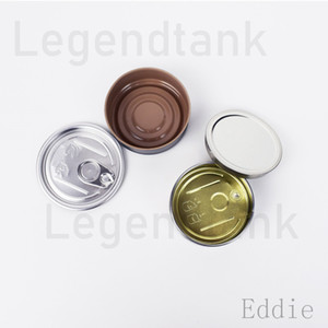 metal tin custom label box Empty candle Tin package Smart bud jar tank dry herb cans flower can Packaging Free Shipping DHL
