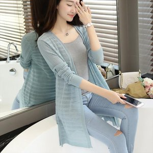 2020 Spring Summer New Arrival Medium Long Knitted Thin Cardigan Sweater Irregular Air Conditioning Cape Sun Protection
