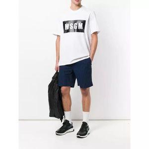 5 colori all'ingrosso-alta qualità uomini / donne msgm t shirt estate coppia estate lettera stampata Top TAE Casual cotone manica corta o-collo Tshirt