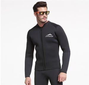 5 мм Неопрен Мужская с длинным рукавом Wetsuit куртки Профессиональный гидрокостюм дайвинг куртка без Pant размер M-3XL