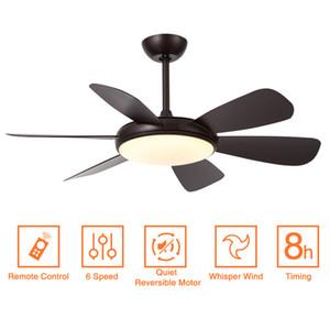 modern ceiling fan with lights remote control 42 Inch 52 inch black fan with light ventilator lamp bedroom decor ceeling cieling