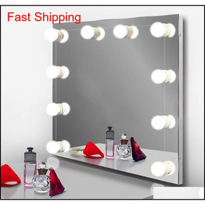 Hollywood Style Led Vanity Specchio Specchio Kit con luce dimmerabile 10 Lampadine per tavola di trucco specchio Vanity Set in medicazione VIWZQ