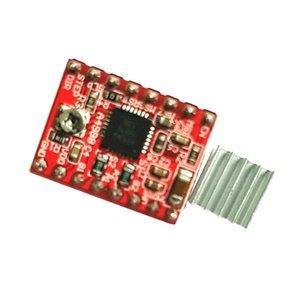 A4988 스테퍼 모터 드라이버 모듈 보드를 들어 3D 프린터 CNC + 방열판 레드