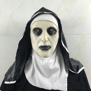 Halloween Face Mask The Nun Horror Masks in 2 Editions Fashion Holiday Mascherine Latex Mascarilla DHL Free Shipping