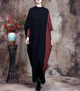 NYFS 2020 Nouvelle robe femme d'hiver Vintage vapeur vapeur robe vestidos elbise fashion tricot robes longues1