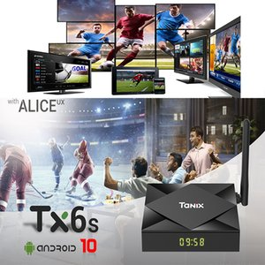 TX6S Android 10.0 OS Smart TV-box Orginal Tanix H616 2GB 8GB 2.4g 5G WIFI BT Set-Top-Box with Alice UX Support Voice Remote