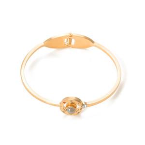 Eu te amo 100 Língua pulseiras Jóias Romantic Memória Dia dos Namorados pulseira Roman bracelete de cristal