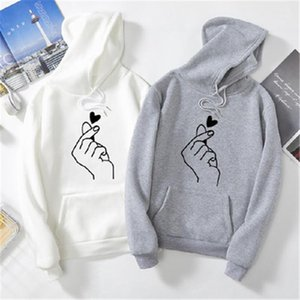 Long Sleeve Hooded Sweater Fashion Trend Male Autumn Loose Casual Couples Matching Man Heart Pattern Hoodies Designer New Thick Fleece