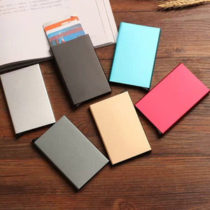 RFID Credit Card Holder Protector Metal Credit Cards Holders Case Wallet for Women Men
