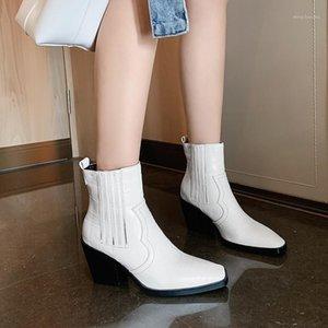 NORBERG 2020 Kış Ayakkabı Kadın Tasarımcılar Kadın Ayakkabı Kadın Ayak Bileği Çizmeler for1