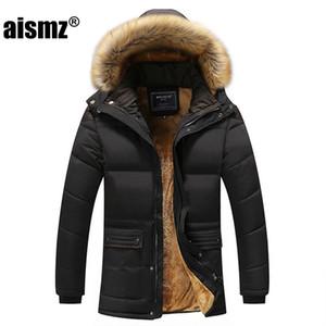 Aismz Yeni Kış Erkekler Aşağı Parkas Pamuk dolgulu ceketler Erkekler Casual ceket Aşağı Kalınlaşmak Coats Palto Giyim Büyük 5XL 201.104 Isınma