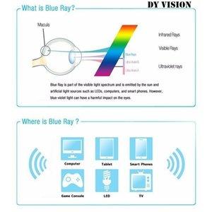 2020 Medio capítulo anti multifocal lectura de la luz azul de los vidrios de los hombres progresiva gafas de presbicia Fotocromáticas Bla Ultra Ligero