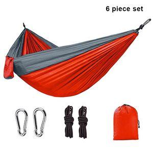 Upgrade Camping Hammock Outdoor Hanging Double Hammocks Portable Nylon Hiking Hammock for Backpacking Travel EDF88