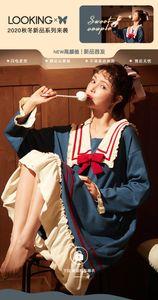 Pijamas senhoras puro algodão primavera e outono inverno longo mangas camisola estudantes cute versão coreana do tamanho grande pode ser usado outsi