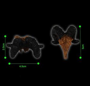Simulation Statue Landscape Ornament Reptile Cave Artifical Rhino Sheepshead Resin Skull Aquarium Terrarium De wmtTVC dh_garden