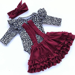 Baby Girl Clothes Set 0-24M Leopard Newborn Infant Autumn Spring Long Sleeve Romper Ruffles Skirts Outfit Baby Girl Costumes Clothing Sets