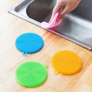 Круглый Силикон Щетка для очистки Anti-ошпарить антипригарным масло Кухня Посудомоечная щетка Clean Гигиеническая чистка Артефакт Rag VT1931