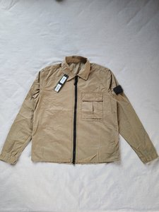 싼 뜨거운 판매 3 색 19FW 115wn overshirt 오래된 의류 염료 topstoney 셔츠 스테인드 의류 크기 : S-3XL