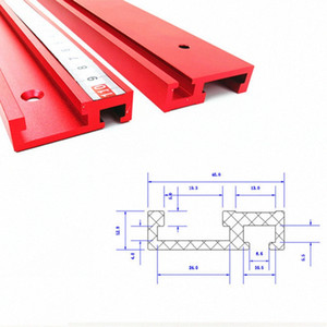 1pc 100mm-800mm Chute Aluminium alloy T-tracks Model 45 T slot Standard Miter Track Stop Woodworking Tool workbench Router Table rqxq#