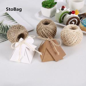 StoBag Natural de serapilheira Hessian juta Twine cabo de corda da festa de casamento DIY Handmade Embrulhos Cords Tópico pmU0 #