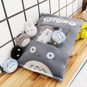 Snack Cutie en forme de poupées Big Pack du Japon dessin animé multi-couleurs de Mini Totoro Jouets en peluche Big Eyes Cheesy Puffs Toy 201012