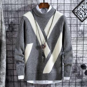 2020 neuer Winter Thick Strickpullover Männer Qualitäts-Mann Pullover Pullover warm halten Pull Homme Mode-Männer Weihnachtspullover