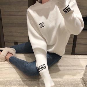 FF design de luxe hiver 2020 Pull Femmes élégant en tricot de base overs O cou en vrac souple Femme Cachemire canal Jumper c