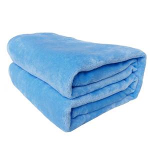 Solid Color Flannel Blanket Comfortable Soft Sofa Bedding Bedsheet Summer Winter Portable Bedspread Blanket Home Textile