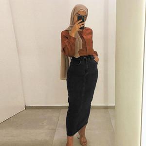 Denim Abaya Dubai Muslim Fashion Dresses For Women Long Skirt Dress American Turkish Islamic Clothing Pakistani Islam Malaysia