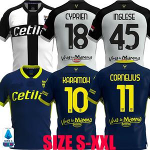 2020 2021 maillots de football Parma Calcio Darmian Gervinho Inglese Kucka 20 21 Karamoh Cornelius Kulusevski CYPRIEN Adorante football chemises
