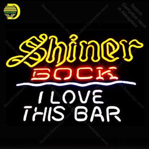 Enseignes lumineuses pour Shiner Bk I Love This Bar ampoule signe Décore mur de la salle Handcrafted Néon Tube en verre Sign Iconic Publicité