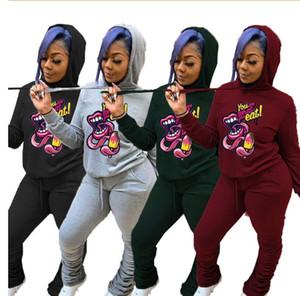 2021 hot Tracksuits Fashion Designer Hoodies+pants 2 Piece Sets Solid Color Outfit Suits sweatshirt High Quality Women's jogging suits