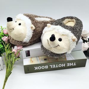 special hedgehog fur timber land shoes men women winter Custom slippers Home House Children indoor Q0108