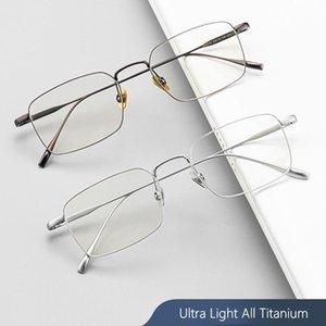 Tutti Titanium telaio ultra leggero titanio puro Occhiali Square Frame miopia Occhiali Uomini lega Retro Frames SC10T