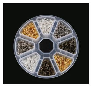 Schmuckherstellung Zubehör Boxen DIY-Ergebnisse Schmuckmaterial Perlen Caps Ohrring Haken Jump Ring Claspe Pins Legierung Qylraa
