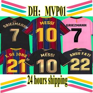 nueva Barcelona Messi tapa de la estación calidad de Tailandia 19 20 21 Camisetas de Jersey del fútbol del futbol de Barca 2020 2021 BAR camisetas de fútbol de fútbol