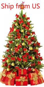 7.5ft مضاءة قبل الولايات المتحدة STOCK 2020 شعبي شجرة عيد الميلاد شنقا الاصطناعي شجرة عيد الميلاد مع موتر قبل 400 أضواء بقيادة حامل طوي W49819945