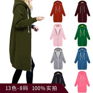 long women's hooded winter and Autumn long mid sleeve sweater women's winter coat 1 45