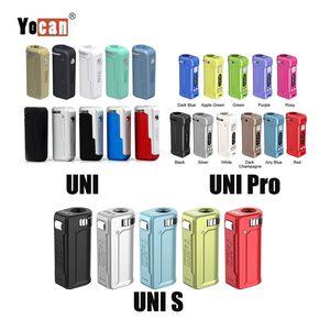 Newest 11 Colors Authentic Yocan UNI PRO S Box Mod 650mAh Preheat VV Vape Battery for All 510 Thread Carts Cartridge 100% Original