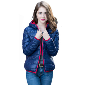Manley Arty nuovo ultra giacca leggera Giù donna incappucciata Double Side reversibile Plus Size 4XL Feather Giacche Donna