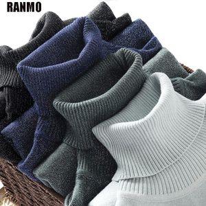 Ranmo Turtleneck Mujeres Suéter Shiny Punto Punto Suéter Tops Invierno Casual Rosa Jersey Suéteres sueltos Femenino Ropa de estilo coreano
