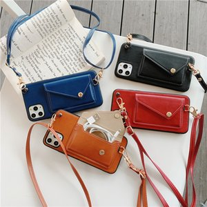 IPhone12pro Case Three-dimensional Coin Purse Creative Card Leather Messenger Rope Suitable for Iphone12 11Pro Xs X 7 8 Protective Case