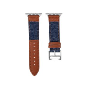 Fashion Denim Bands for Apple Watch Series 6 5 4 3 SE 40 44MM Strap for Iwatch 38 42 mm Buckle Leather Watchbands