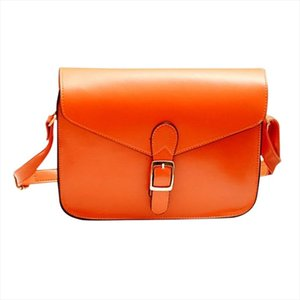 Womens handbag messenger bag preppy style vintage envelope bag shoulder high quality briefcase orange Drop Shipping