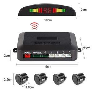 4 probe wireless parking radar LED Parking Sensor Universal Wireless Rear Reverse Backup Car Radar Monitor Detector
